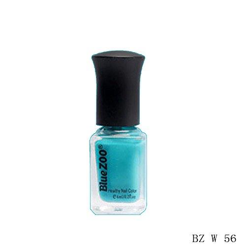 (HCFKJ 6ml Popular Beauty Nail Green Series Nail Art Polish Professional B)