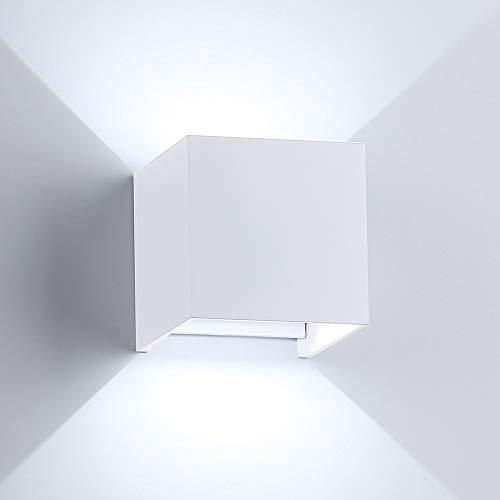 (ETiME Modern Wall Sconce Light White, 3.94