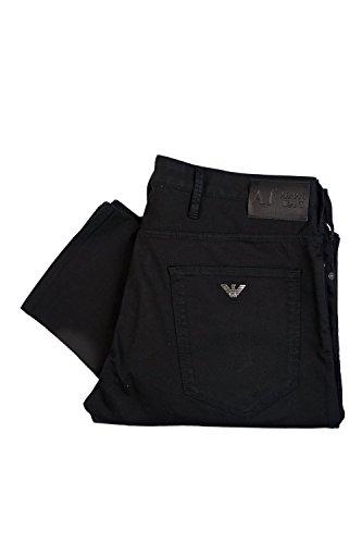 Armani AJ Men's Slim Fit Gabardine Jeans 06J83PW 32/32 Black
