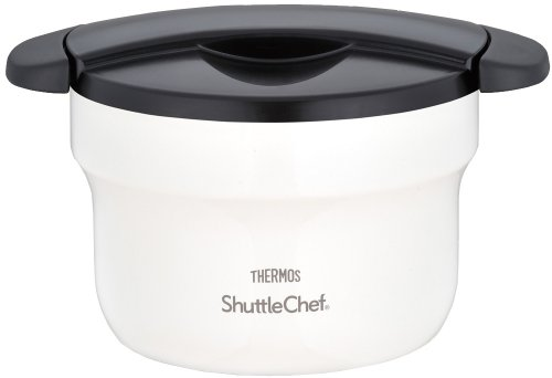 THERMOS vacuum thermal insulation cooker shuttle chef 1.6L off-white KBF-1600 OWH (Japan import / The package and the manual are written in Japanese) by Thermos