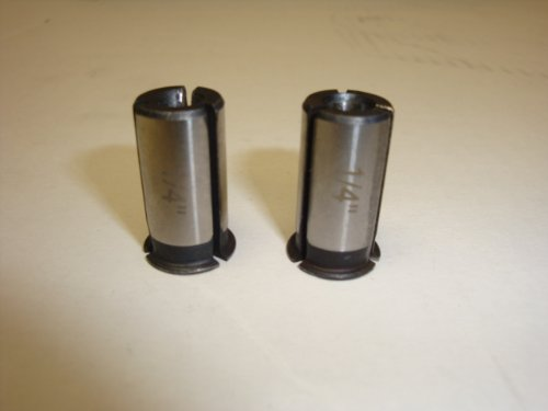 Ridgid R2200 Router Replacement 1/4'' Steel Collet Adaptor (2 Pack) # 672036001