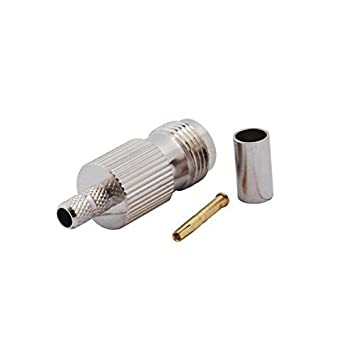 PC-Case 2pcs RF Electronics alambre Terminal Conector TNC Jack recto para cable coaxial RG58