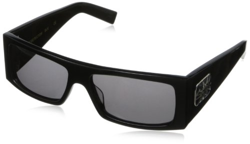 Black Flys Fly Detector Wrap Sunglasses,Shiny Black,57 - Black Sunglass Flys