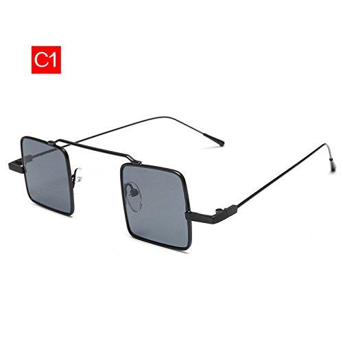 Marco Metal KLXEB Gafas C5 De Sol Cuadrado Gafas Diseñador Hombres De Mujeres Pequeño De Vintage C1 Mujer Reflectante Marca Gafas De Sol zOwPzr