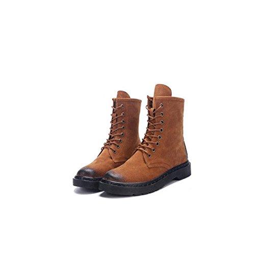 Toison Toison Toison aime les Jeux olympiques, la phrase d'or envoie un cadeau décontractées Bottes Noir Coupe Femmes Chaussures Marron d'hiver de 3b5432
