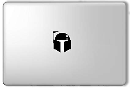 - Boba Fett Head Star Wars Apple Macbook Laptop Vinyl Sticker Decal