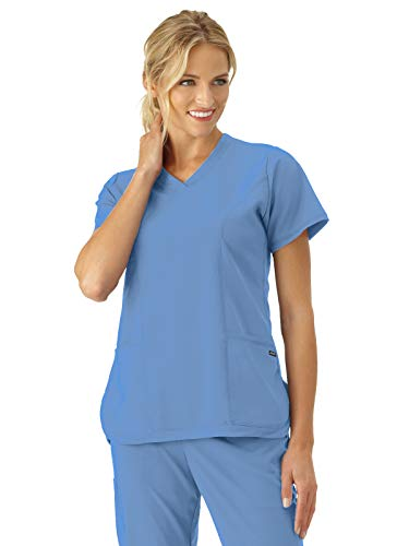 (Jockey Scrubs 2401 Women's Modern Fit Cool Mesh Shirttail Scrub Top Ceil 3XL)