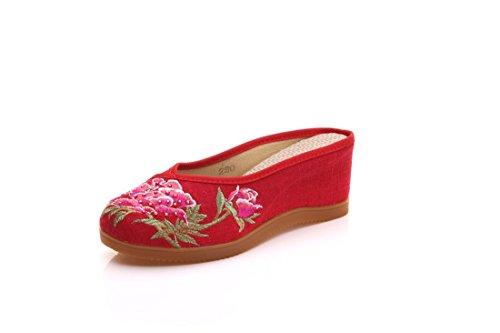 Zapatillas Bordadas de Lino Zapatillas Chinas de Pendiente y antigüedades Gules