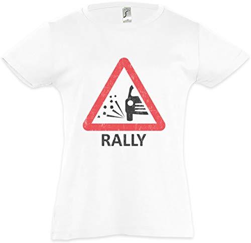 Urban Backwoods Rally Sign Kids Girls Children T-Shirt White