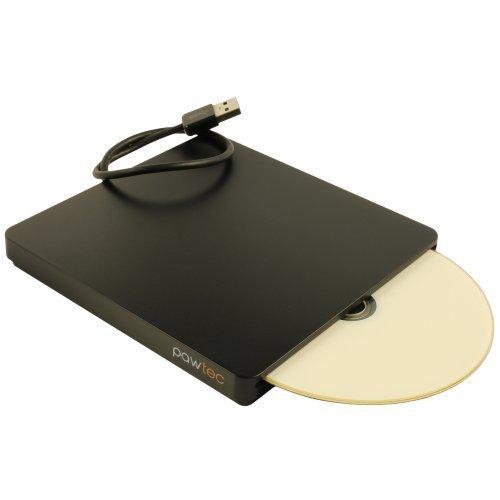 Pawtec UltraSlim External USB 3.0 Slot-Loading BDXL 3D Blu-Ray Writer / Burner For PC or Mac - Black by Pawtec (Image #3)