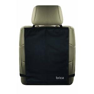 Brica Kick Mats - Protector para asiento trasero de coche (2 unidades), color negro