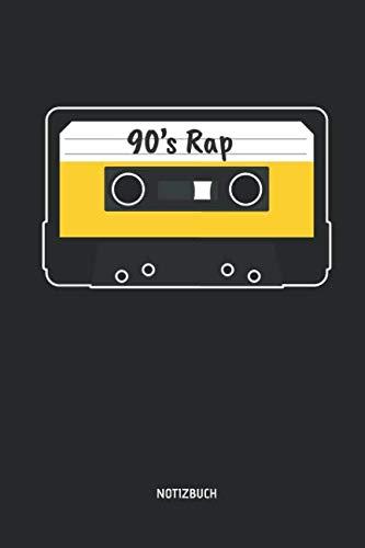 90's Rap - Notizbuch: Liniertes Kassetten Notizbuch. Tolle Geschenk Idee für Kassetten, Retro, Nostalgie, 80s und 90s Fans und alle die Musik lieben. (German Edition) (Liebe Brille)