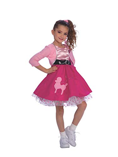 Rubie's Fifties Girl Child's Costume, -