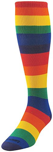 TCK Sports Krazisox Rainbow Stripes Over the Calf Socks