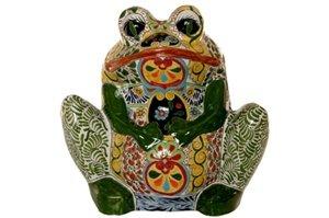 Talavera Frog Planter (Xtra Large) – 18″ High x 18.50″ Wide
