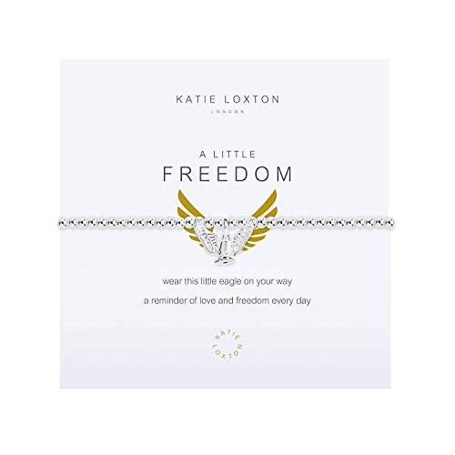 Freedom Eagle - Katie Loxton A Little Freedom Eagle Wings Silver Women's Stretch Adjustable Charm Bangle Bracelet