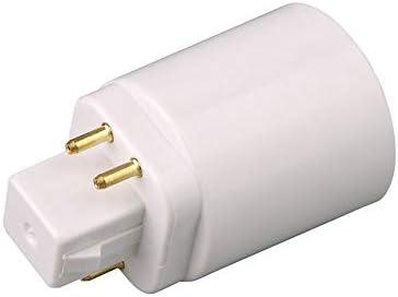 RoadRomao Adaptador de l/ámpara de luz LED GX24Q a E27 Conector de portal/ámparas Convertidor de 4 Pines Base de Extensor de l/ámpara a Base de Tornillo