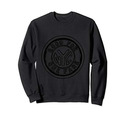 Nyc Subway Token (NYC Subway Token Art Sweatshirt New York in Five)
