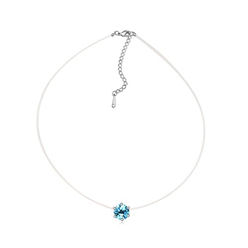 spyman Bright 3 Colors Original Crystals From Austrian Choker Necklace For Women Jewelry Gift Party Accessories Wholesale No Allergy Seablue