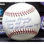Autograph Warehouse 291678 1960 Carroll Hardy Autographed Baseball - OMLB Boston Red Sox great moment in team history