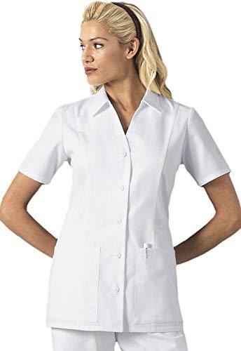 ab32609425002 Cherokee Women's Professional Whites Button Front Top, White/White, Large