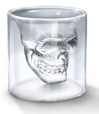 OliaDesign Crystal Skull Pirate Shot Glass Drink Cocktail Beer Cup, White