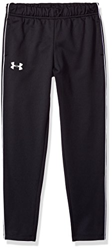 Under Armour Girls Tech Track Pants, Black /White, Youth Med
