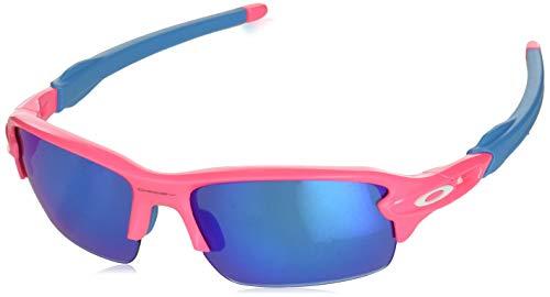 Oakley Boys' Flak Xs Non-Polarized Iridium Rectangular Sunglasses, NEON Pink, 59.0 mm ()