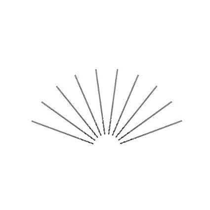 ChaRLes 10Pcs 3.175 mm Ca/ña 0.2-0.9 mm Hss Brocas Helicoidales 0.2 Mm