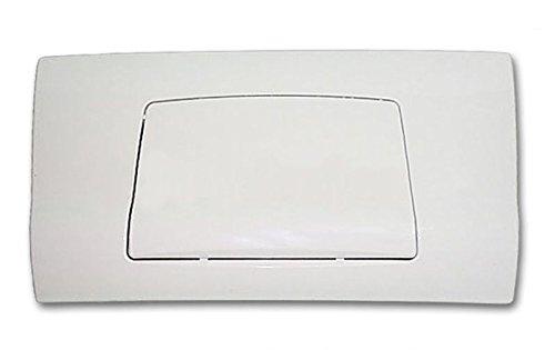 Pucci Placca Bianca (Cm 33x18) Completa di Telaio per Cassetta Incasso Mod. Sara PUCCIPLAST