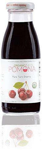 Organic Pure Tart Cherry Juice - 8.4 ounce (Pack of 12) Organic Tart Cherry Juice by Pomona