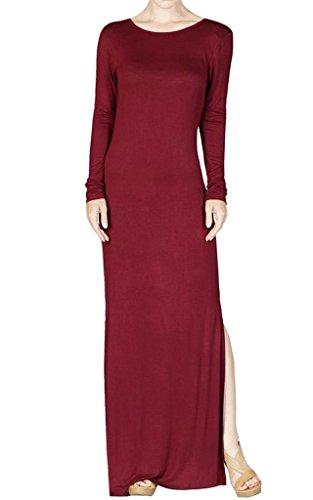 Ola Mari Scooped Back Maxi Dress with Side Slit, Large, (Cebra One Light)