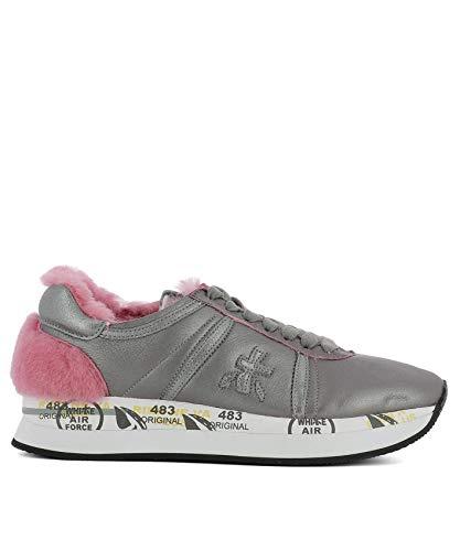 Sneakers Premiata Conny2613 Donna Pelle Argento SddCqrfw