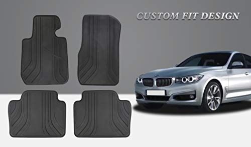 HD-Mart Car Floor Mat Rubber for BMW 3/4 Series F30 F31 F32 F33 F36 2012-2013-2014-2015-2016-2017-2018,Custom Fit All Weather Heavy Duty & Odorless