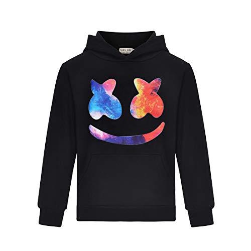 Thombase Kleurrijke Smiley Gezicht Geïnspireerd Hoody Kids Kinderen Meisjes & Jongens Pullover Hoodie met Pocket