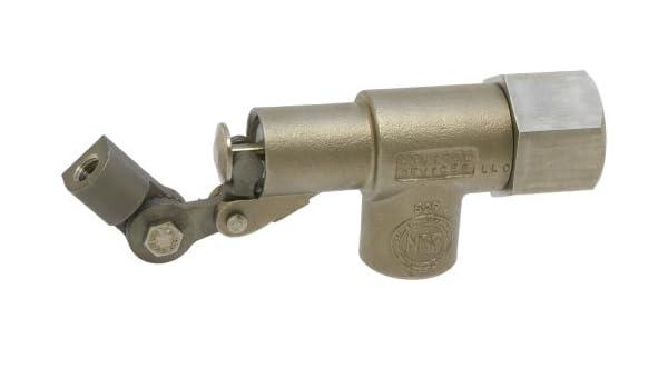 Robert fabricación R1371 serie Bob válvula de flotador de acero inoxidable 316 con PTFE Disco y taza, 1