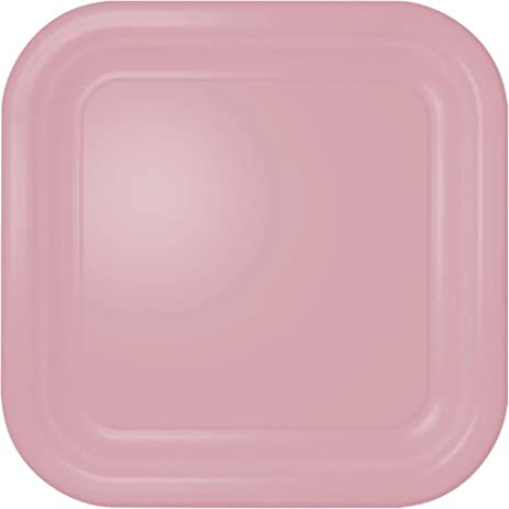 Square Dinner Plates - Light Pink Square Paper Plates - 12 Count  sc 1 st  Amazon.com & Amazon.com | Square Dinner Plates - Light Pink Square Paper Plates ...
