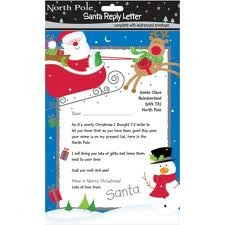 Christmas Santa Reply Letter With Envelope Amazoncouk