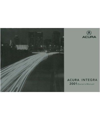 2001 Acura Integra Owners Manual Acura