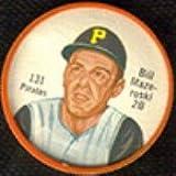 1962 salada tea coins (Baseball) Card# 131 Bill Mazeroski of the Pittsburgh Pirates ExMt Condition