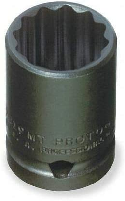 Metric Impact Socket 15mm Size PROTO J7415MT 1//2 Dr 12 Pts
