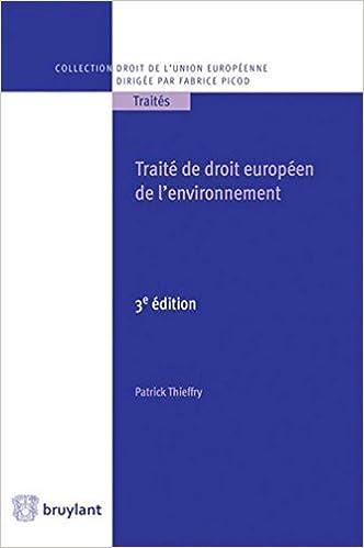 Livres gratuits Traité de droit de l'environnement de l'Union européenne pdf, epub