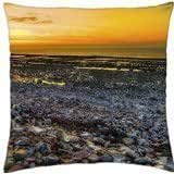 wonderful stone beach hdr - Throw Pillow Cover Case (18