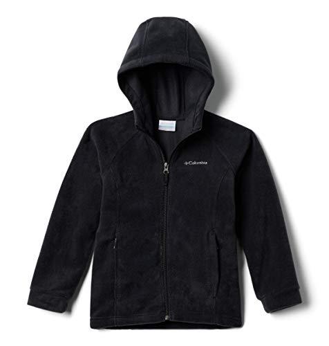 Columbia Big Girls' Benton II Hoodie Jacket, Black/Black, Small (7/8)