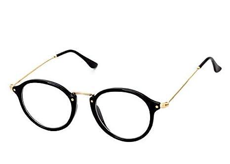 46b60b157 كوريان ستايل نظارات طبية خفيفة الوزن ريترو باطار معدن لطيف وعدسات مسطحة  للجنسين