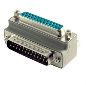 L-com Connectivity DG9025MF2 LOW PROFILE RIGHT ANGLE ADAPTER, DB25 MALE/FEMALE, CABLE EXIT 2 ()