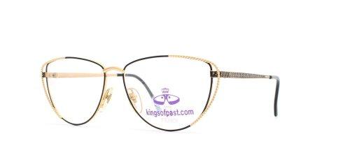 Fendi 171 529 Black and Gold Authentic Women Vintage Eyeglasses Frame