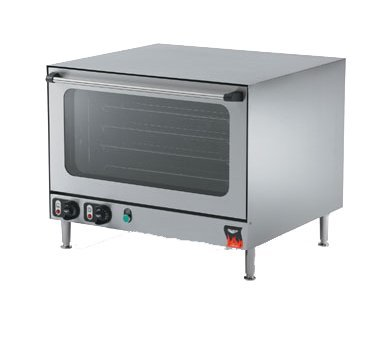 Vollrath Cayenne Convection Oven, counter top, electric, steam injector, manual humidity control, (4) grid shelves fit (4) full size sheet pans, double wall insulated, removable shelf runners, cool touch doors, stainless steel construction, NEMA 6-50P, 5.6 kw, 230v/60/1-ph, 25.5 amps, ETL, NSF, model# COA8005, 40702