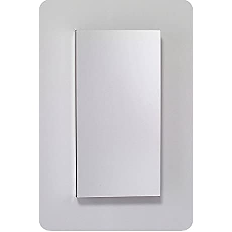 Robern MC1630D4FPRE4 M Series Mirror Cabinet With Plain Edge Door Silver