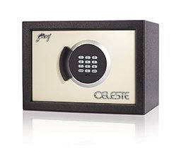 Godrej Aluminium Celeste Digital 14 Electronic Safe (Clear)
